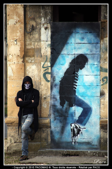 Paco et sa création street art à Sedan