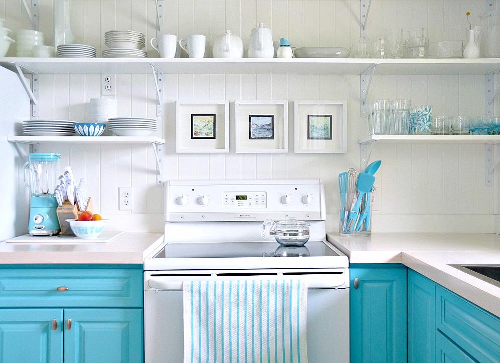 kitchen makeovers under 1500 - Turquoise Kitchen