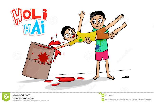funny holi cartoon images