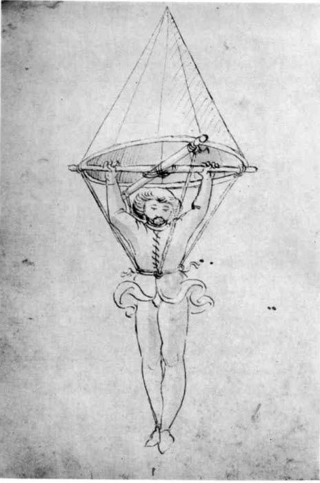 earliest parachute sketch