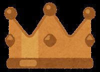 王冠のイラスト(銅)