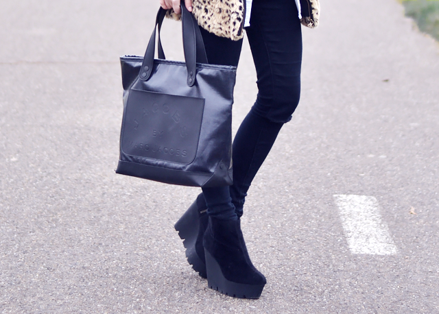 Marc by marc jacobs, tote bag, cheap monday, monolit boots, pony hair, street style, trends, 2015,