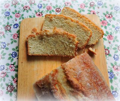 Almond Glazed Poppy Seed Bread