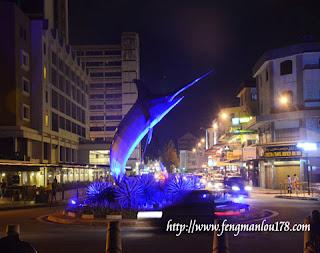 亚庇旗鱼塑像
