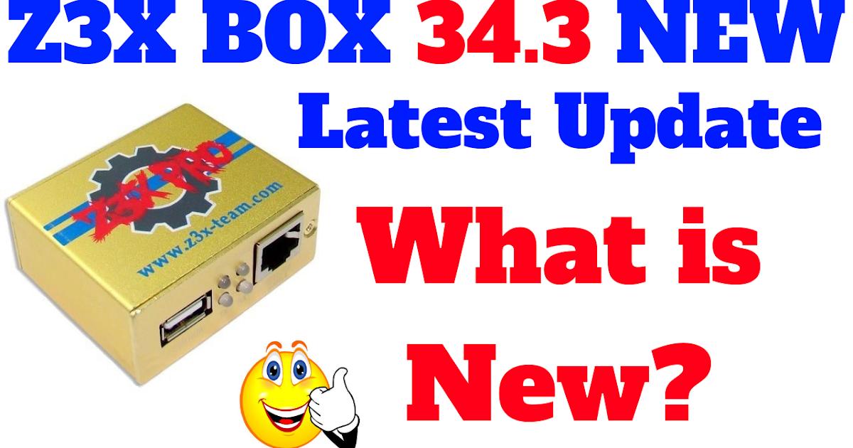 Z3X-BOX Samsung Box PRO update  Samsung tool PRO 34 3 Latest