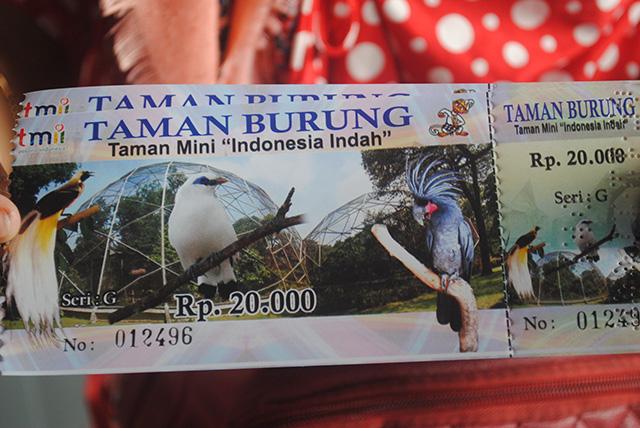 Taman Burung, Taman Mini Indonesia Indah [TMII] - tiket
