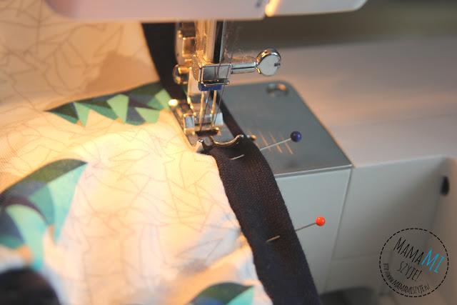 podwójna igła na zwykłej maszynie bluzka