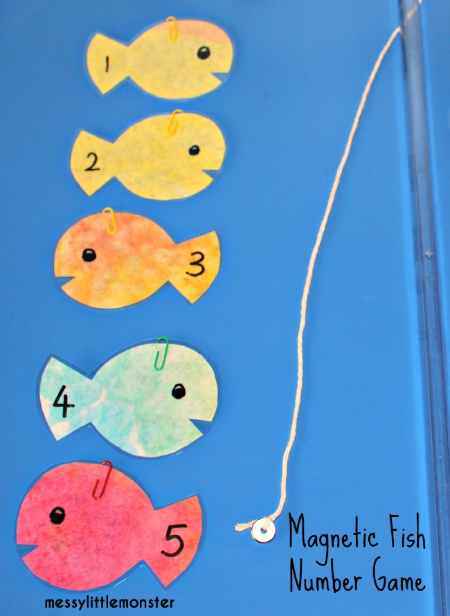 Magnetic Fish and fishing rod activity