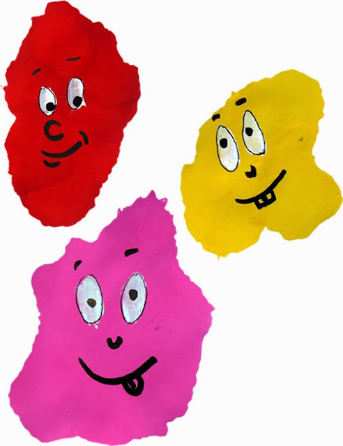 Make Monster Paint Blob Faces with school paints