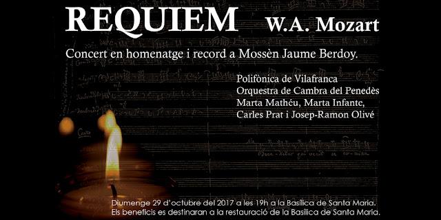 Concert homenatge a Mossèn Jaume Berdoy a la Basílica de Santa Maria de Vilafranca del Penedès