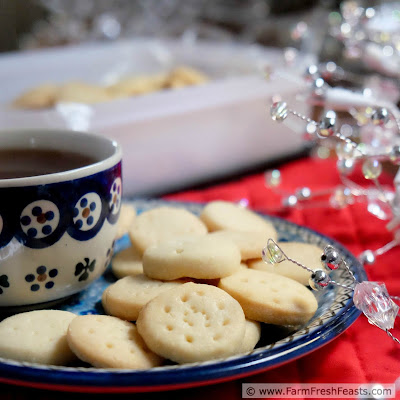 A recipe for Scottish shortbread made the way my Scottish grandma made it--4 simple ingredients, small pieces, and plenty of time to ripen before serving. This is the ultimate make ahead Christmas cookie.