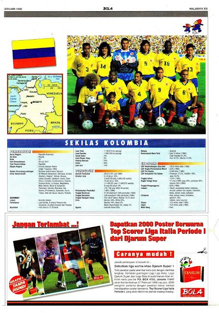 PIALA DUNIA 1998 KOLOMBIA