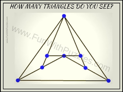 Counting Triangles picture puzzle