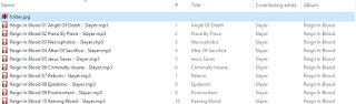 Foobar 2000 file output screenshot.