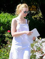Elle Fanning, heading to a casting call in Los Angeles