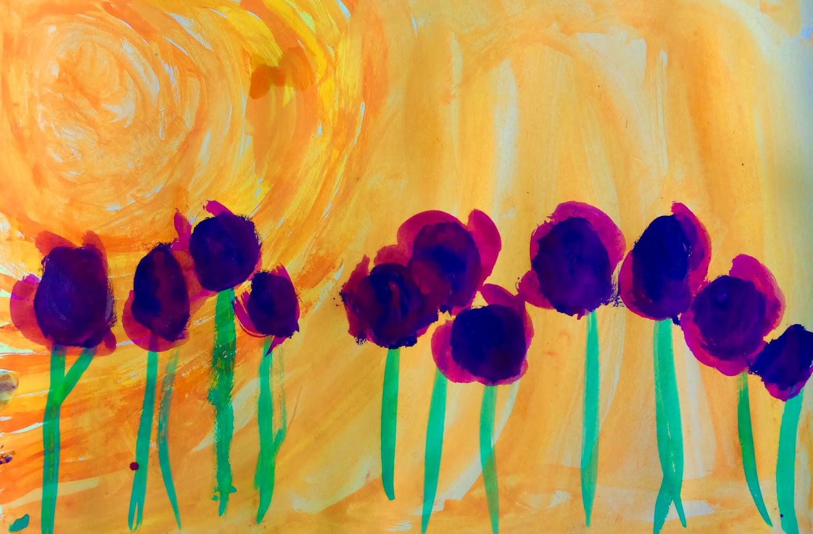 Flori în asfințit