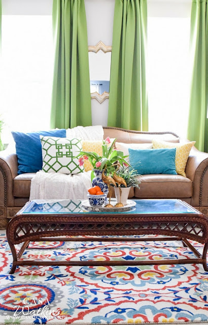 eclectic spring decorating home tour