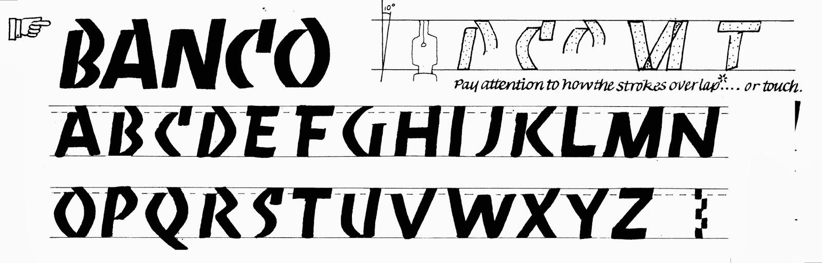 Margaret Shepherd: Calligraphy Blog: 226 Banco