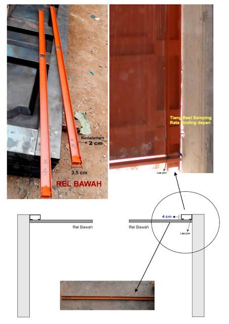 Cara Pemasangan Pintu Lipat Garasi Rumah Minimalis gambar 3