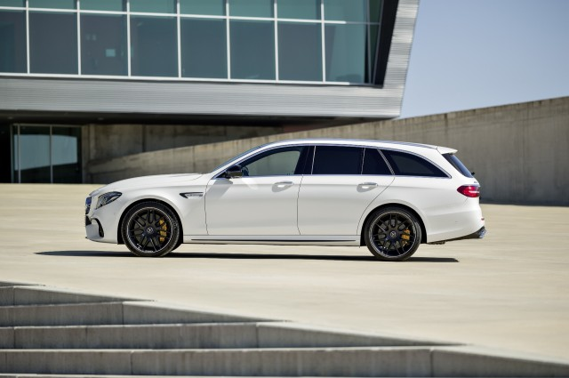 2018 New Mercedes E63S Wagon Review side view