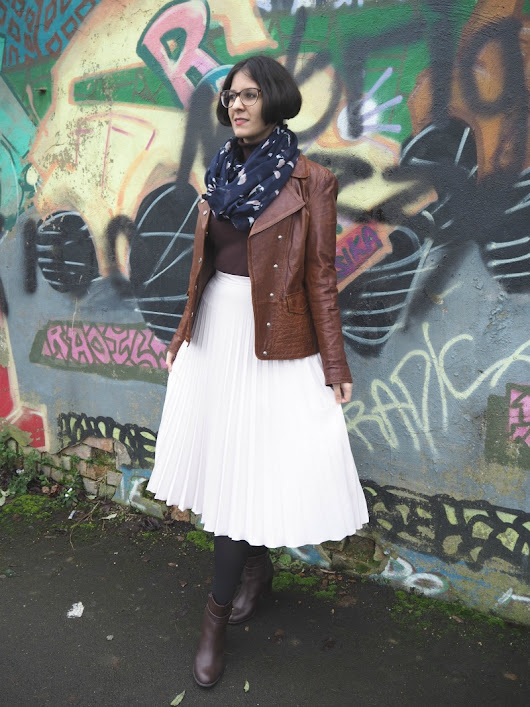 Styling a Pleated Skirt for Winter