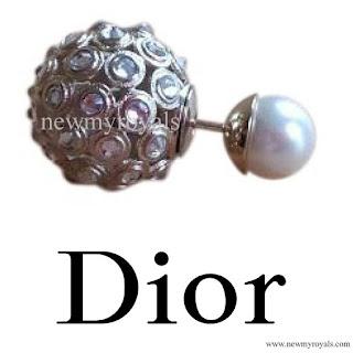Princess Charlene warrings DIOR Tribal Earrings