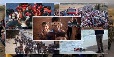 refugiados sírios em botes, marchas de sírios, sírios na Europa, menino sírio na praia, drama sírio