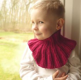 Mini Neck Warmer on child's neck