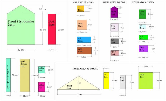 plany na drewniany kalendarz adwentowy
