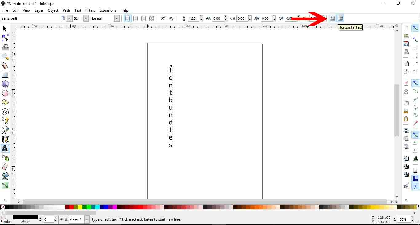 How to type text vertically in inkscape design bundles 5 if you would like to revert the text to horizontal textclick on the horizontal text tool next to hte vertical one ccuart Image collections