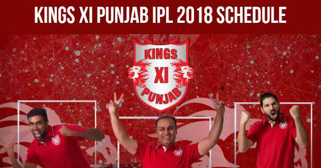 Kings XI Punjab (KXIP) IPL 2018 Schedule
