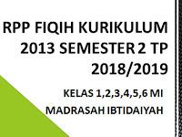 RPP Fiqih Kurikulum 2013 Kelas 1,2,3,4,5,6 Semester 2 T.P 2018/2019