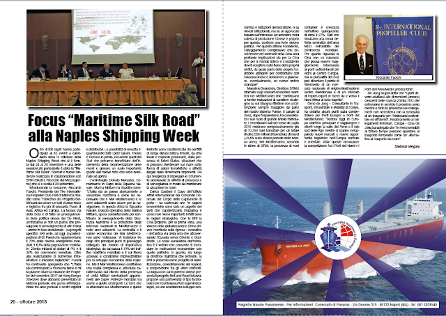 "OTTOBRE 2018 PAG.20 - Focus ""Maritime Silk Road"" alla Naples Shipping Week"