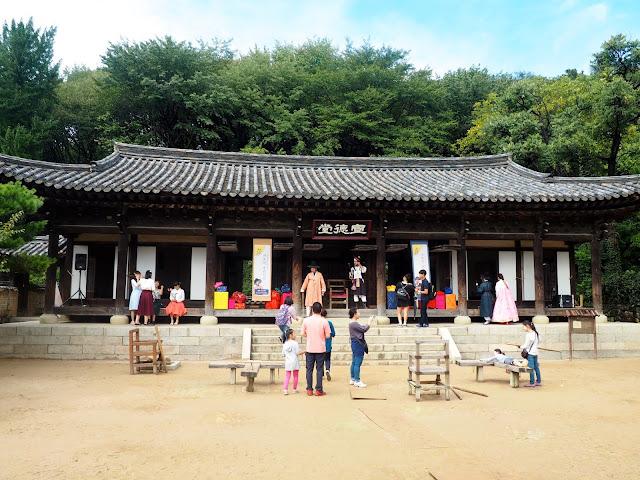 Government building in the Korean Folk Village, Yongin, Gyeonggi-do, South Korea