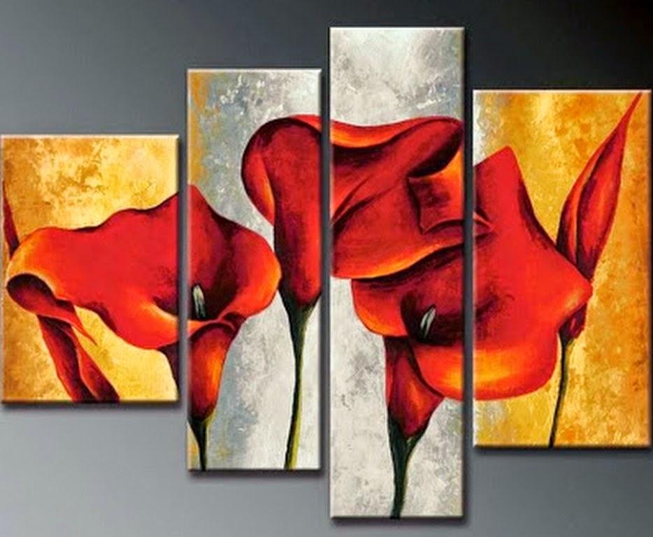 Cuadros modernos pinturas y dibujos cuadros tr pticos modernos para sala for Imagenes de cuadros abstractos tripticos