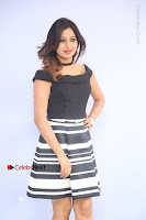 Actress Mi Rathod Pos Black Short Dress at Howrah Bridge Movie Press Meet  0042.JPG