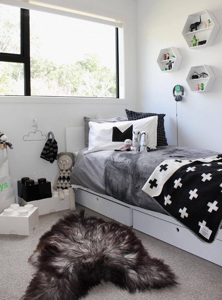 Dormitorios infantiles en color gris for Dormitorio gris