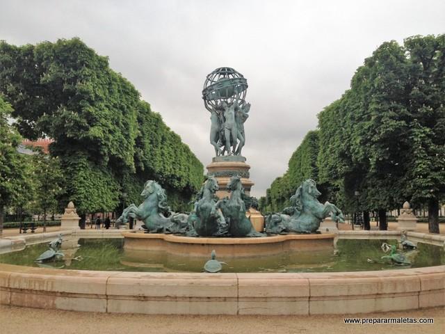 el Jardín de los Grandes Exploradores en París