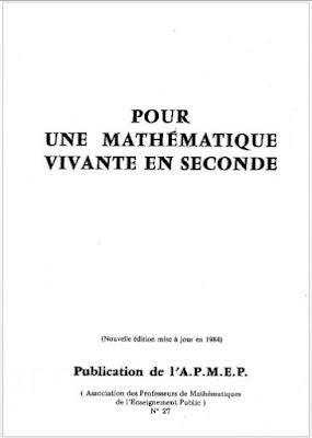 Pour une Mathématique Vivante en Seconde