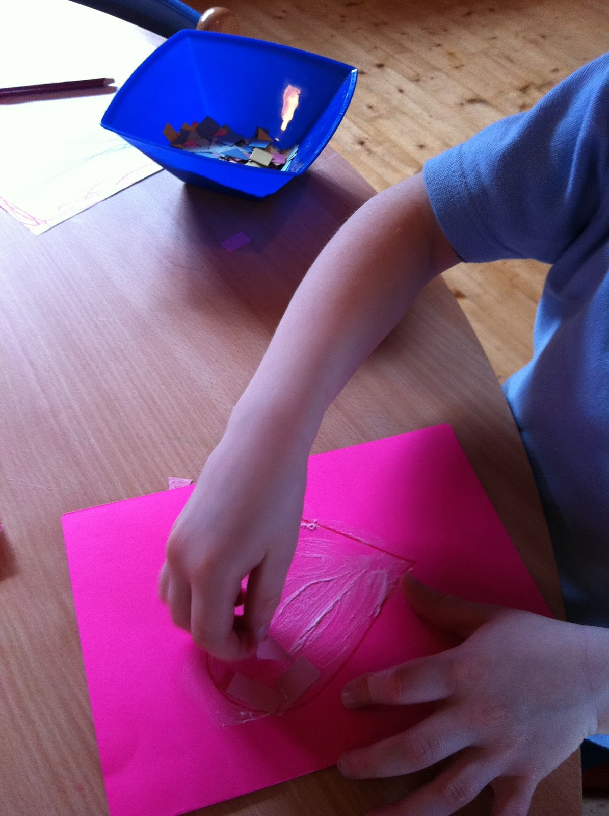 Mother's Day Card-Making Activity (Photo from My Montessori Preschool)