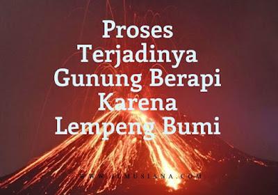 proses terjadinya gunung berapi jika dikaitkan dengan pergerakan lempeng
