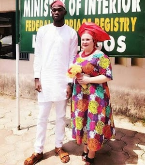 Young Nigerian Man Tied The Knot With  Older White Woman