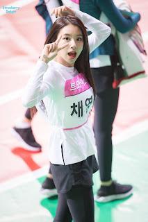 Foto cute Chaeyoung saat mengikuti  ISAC 2018