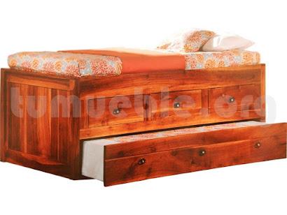cama nido cajones madera teca 4151