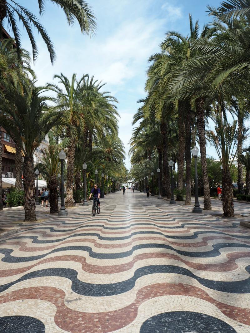 The beach promenade in Alicante