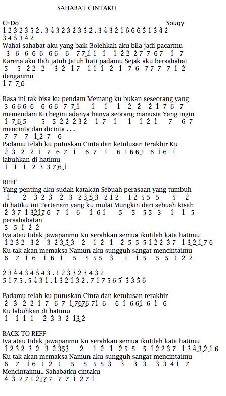 Lirik Souqy : lirik, souqy, Angka, Souqy, Sobat, Cintaku