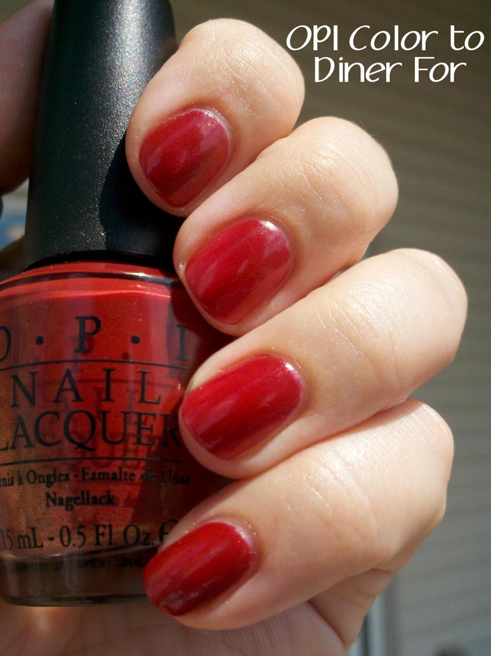 Opi Color To Diner For polish insomniac: OPI ...