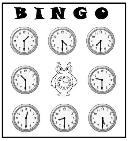 Bingo das Horas Simplificado