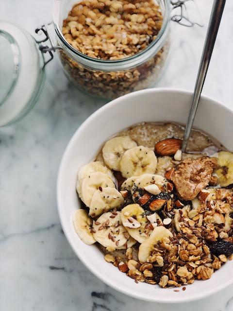 déjeuner santé granola Oat box fruits et noix