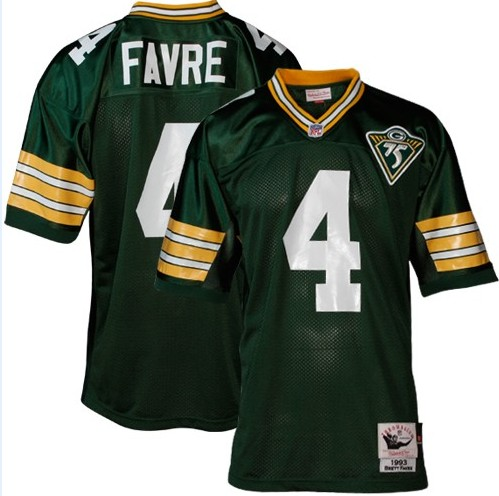 first rate cbf05 bc039 Brett Favre Jersey, 1993 Throwback Collectible #4 Green Bay ...